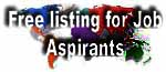 Free listing for Job -Aspirants